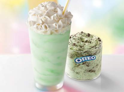 shamrock shake mint chocolate oreo mcflurry mcflurries mcdonald's
