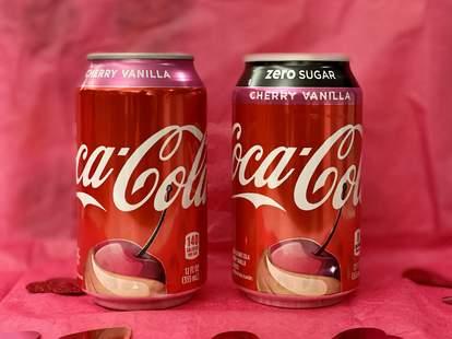 coke coca cola company new vanilla cherry flavor remix cans latest newest