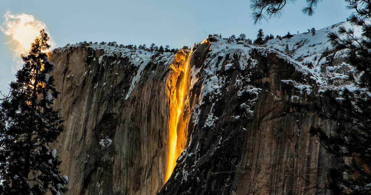 One Of Yosemite's Waterfalls Will Look Just Like Flowing Lava This Month