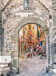 Porto Venere old village access gat