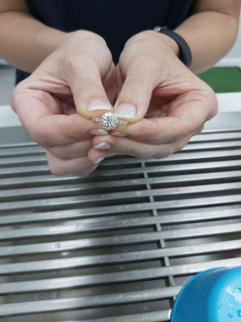dog swallows ring