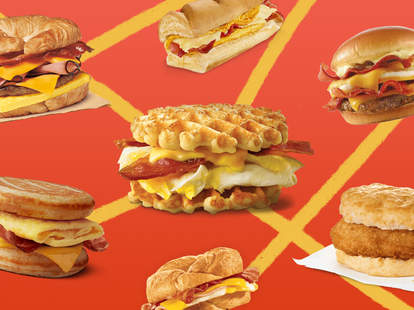 fasties fast food breakfast sandwiches burger king wendy's baconator chick fil a chicken biscuit sausage mcgriddle mcdonalds bfast ranking