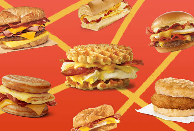 We Ranked the Most Delicious Breakfast Sandwiches in Fast Food