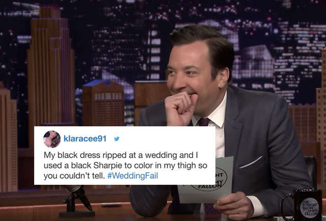 Jimmy Fallon Cracked Up Over Stories of Wedding Disasters