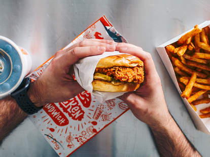 postmates post mates free popeyes chicken sandwich delivery leap year promotion deal