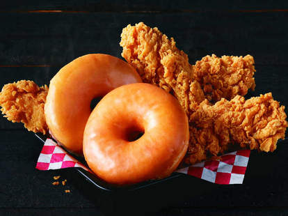 KFC kentucky fried chicken and donuts sweet salty new nationwide launch product