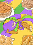 mardi gras fat tuesday pastries
