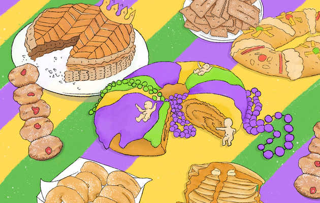 Mardi Gras Demands You Go out on a Pastry Crawl