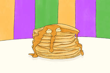 mardi gras fat tuesday pancakes