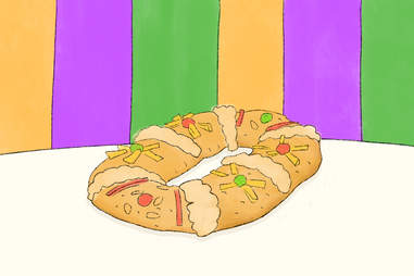 mardi gras fat tuesday Rosca de Reyes
