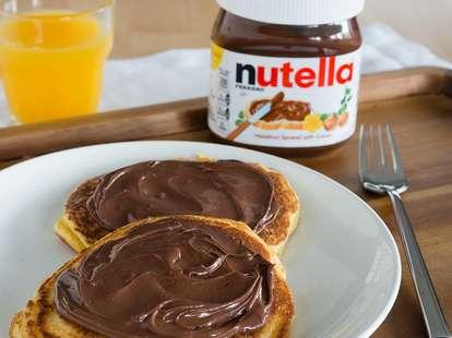 free nutella pancake day