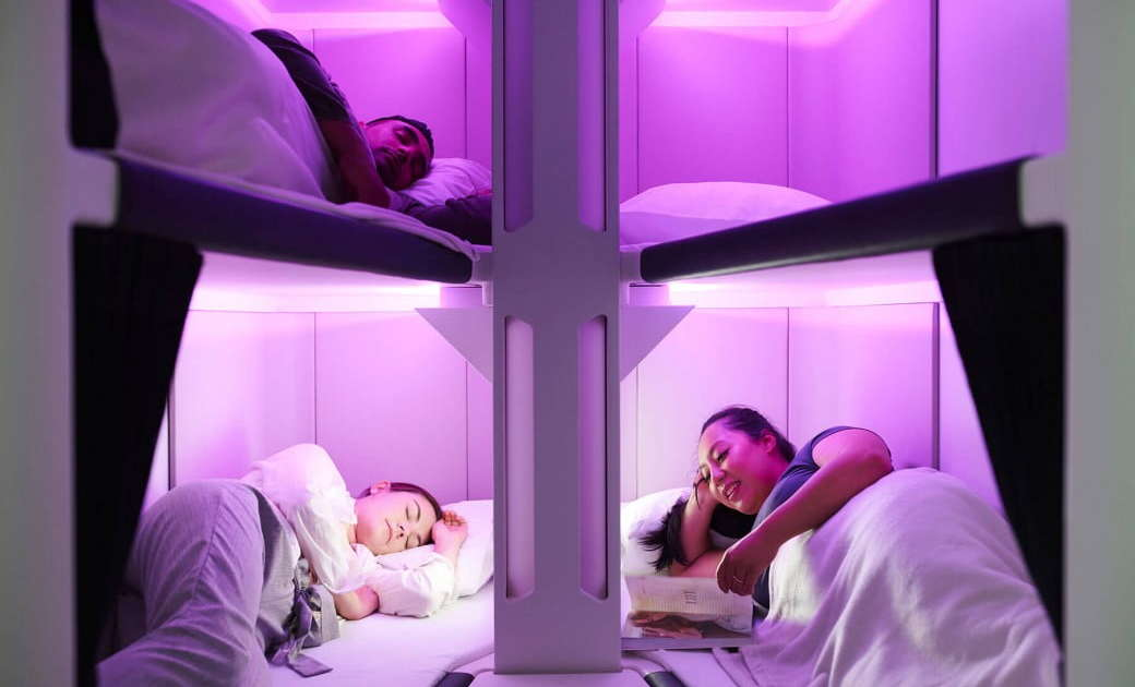 This Airline Is Putting Triple Bunk Beds in Economy Class