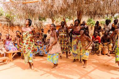religious Voodoo dance