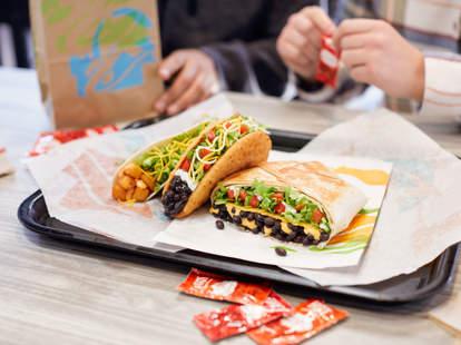 taco bell veggie mode vegetarian new menu launch black bean crunchwrap tacos burritos