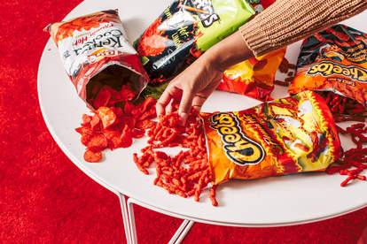 flamin' hot snacks