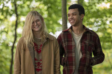 elle fanning and justice smith in all the bright places