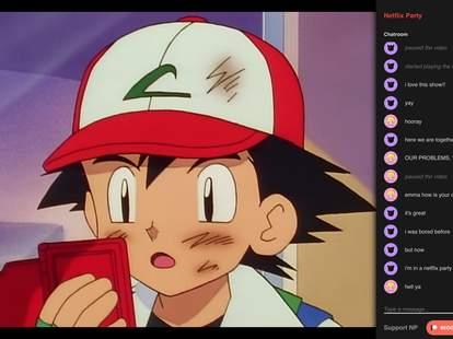 netflix party, pokemon