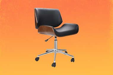mid century roller chair
