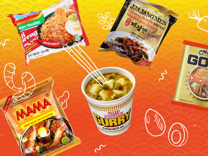 ramen instant noodle noodles mama curry shin shim maruchan indomie mie goreng spicy soy sauce