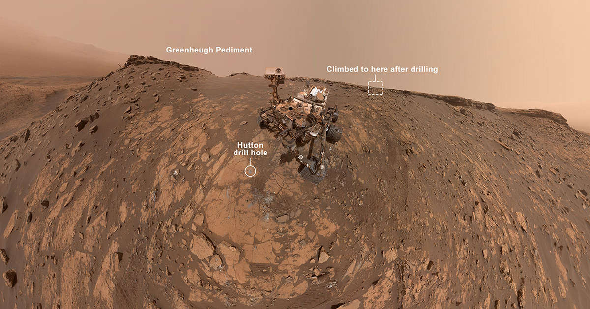 NASA's Curiosity Rover Takes a Cute Selfie after a Record-Setting Climb on Mars thumbnail
