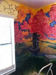 cat finds mural