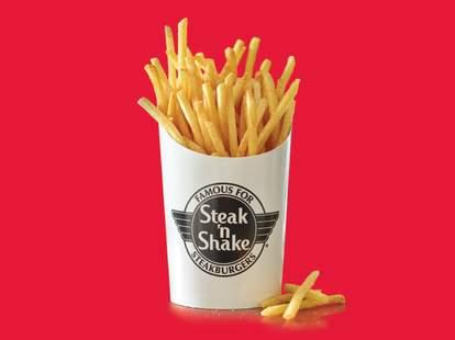 free fries steak 'n shake