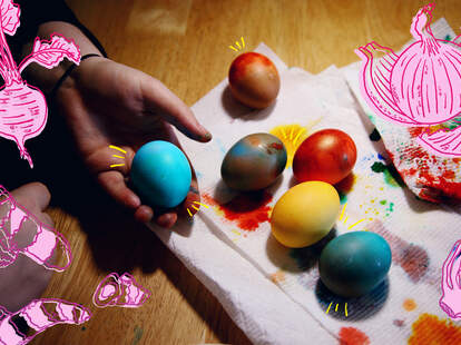 Dyeing eggs dying dye egg easter food coloring natural artifical colors color colorful sunday