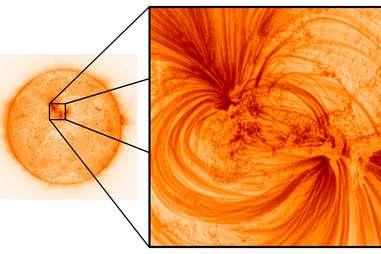 photo of sun's surface