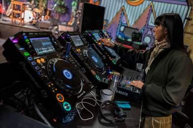 A DJ prepares a livestream