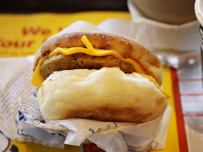 Mcdonald S Sausage Egg Mcmuffin Recipe How To Make A Mcmuffin At Home Thrillist