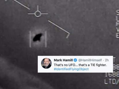 UFO footage twitter jokes