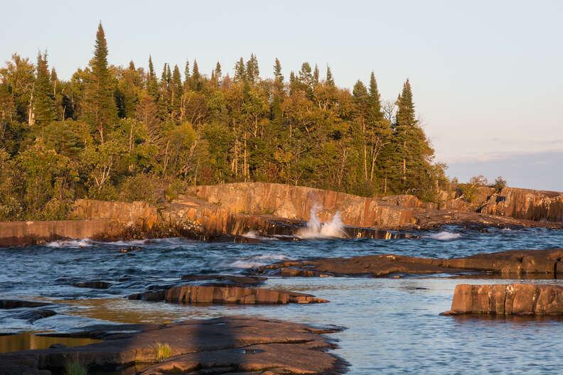 Artist's Point on Lake Superior at Grand Marais