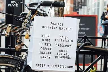 foxtrot grocery delivery bike
