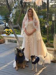 Dogs act as bridesmaids after wedding is cancelled