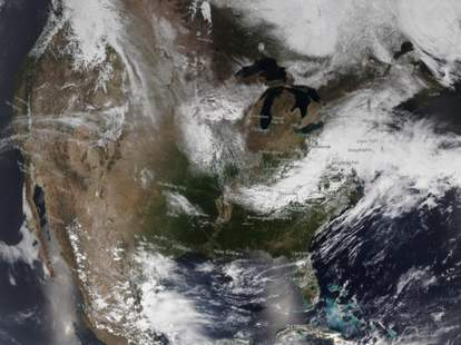 Satellite image of the continental United States on May 7, 2020.NOAA