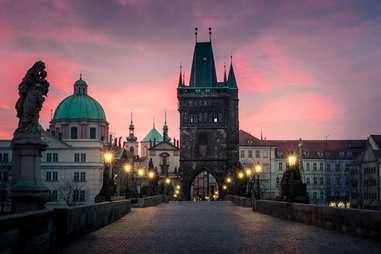 Sunrise over the Charles Bridge, Prague, Czech Republic