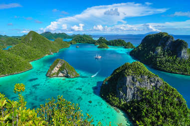 Wayag Island in Raja Ampat