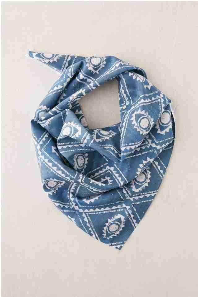Blue pattern dog bandana