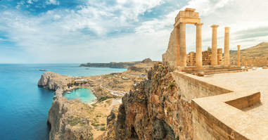 Acropolis of lindos on rhodes island