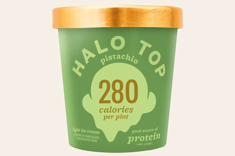 Halo Top pistachio flavor ice cream