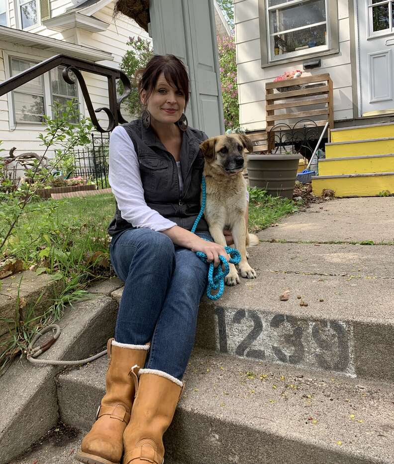 Foster mom reunites with lost dog