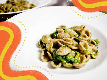 orecchiette pasta homemade in a bowl