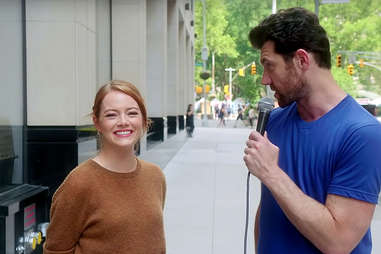 emma stone on billy on the street
