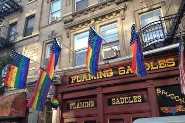 flaming saddles saloon exterior
