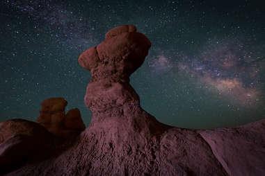 Stargazing in Goblin Valley