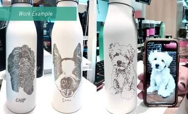 custom dog water tumbler