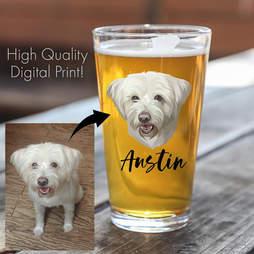 dog beer glass