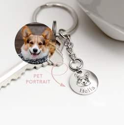 custom dog keychain