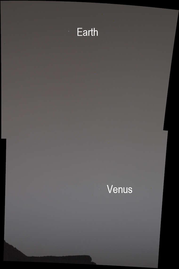 the night sky on Mars