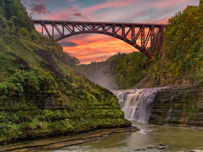 The Upper Falls at Sunset